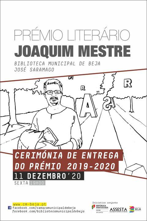 Cerimónia de entrega do Prémio Literário Joaquim Mestre 2019-2020