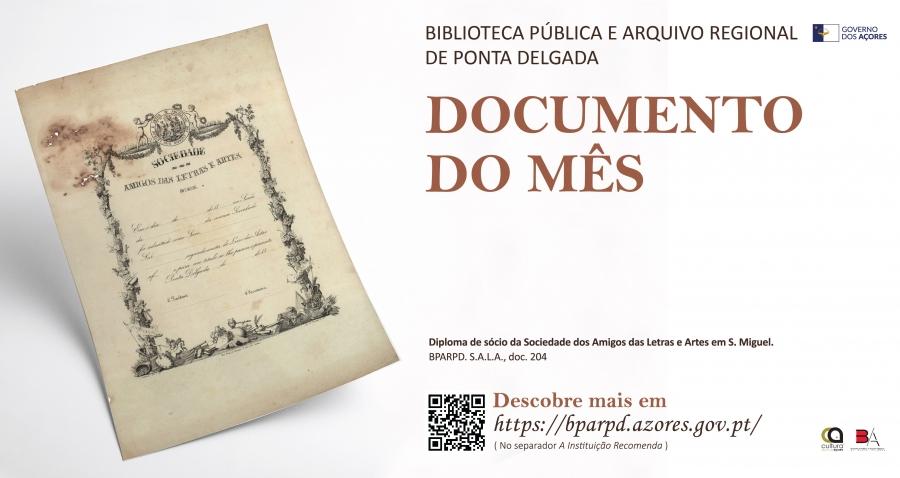 Documento do mês | Biblioteca Pública e Arquivo Regional de Ponta Delgada