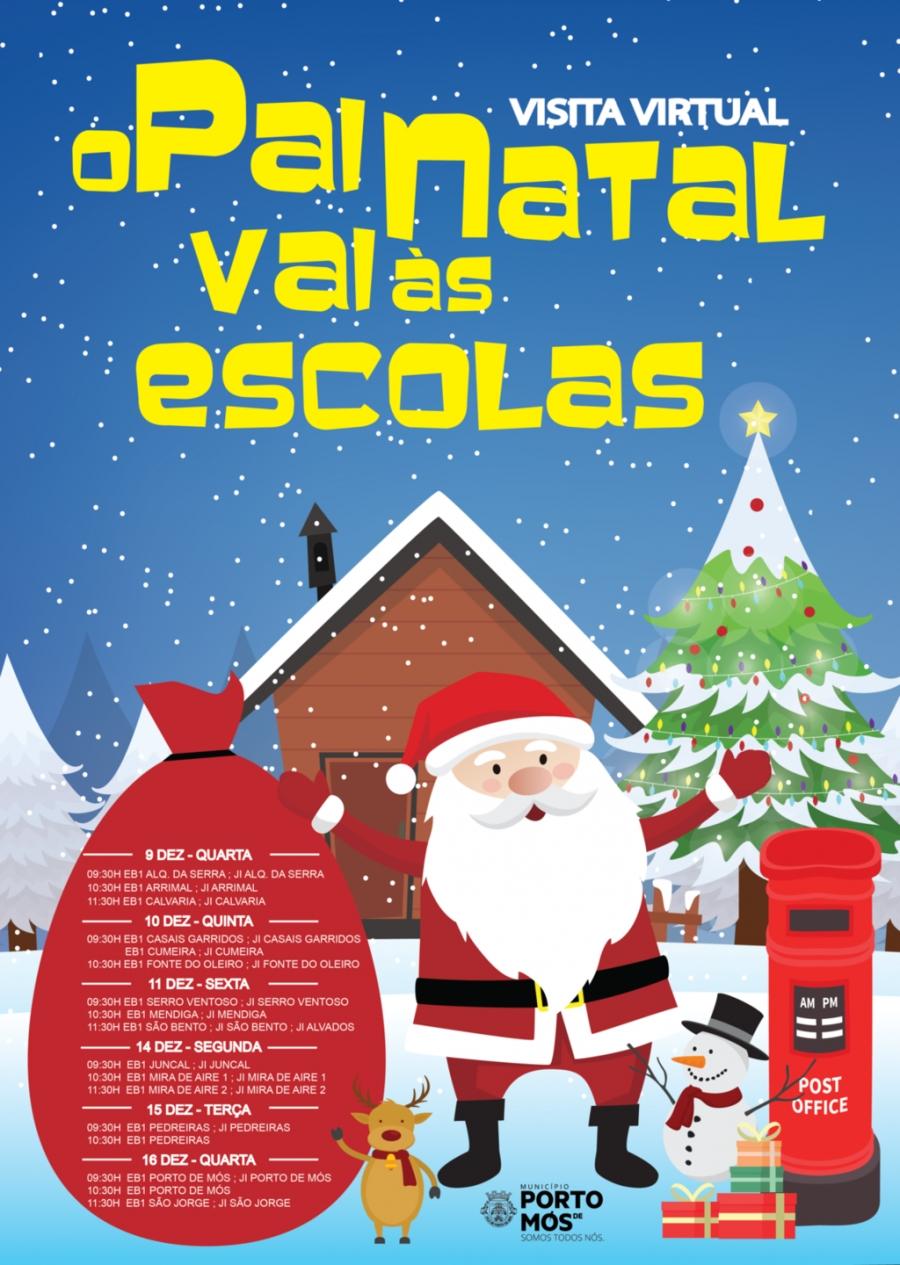 O Pai Natal vai às Escolas - Visita Virtual