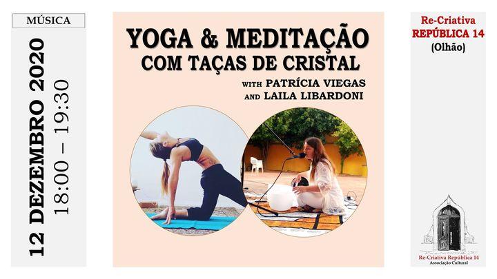 Yoga e Meditação com Taças de Cristal