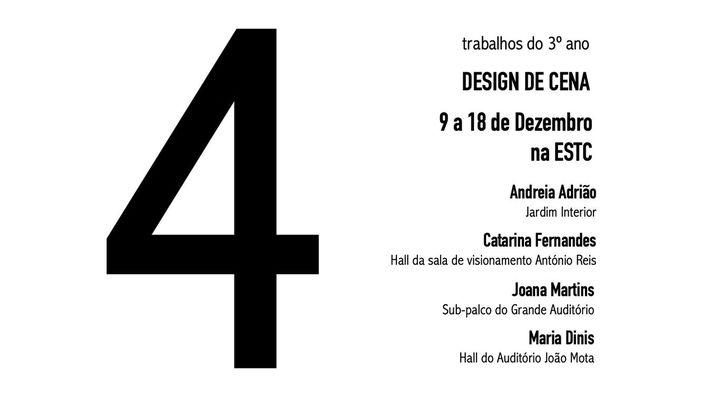 4 - trabalhos de 3º ano da Licenciatura em Teatro - Design de Ce