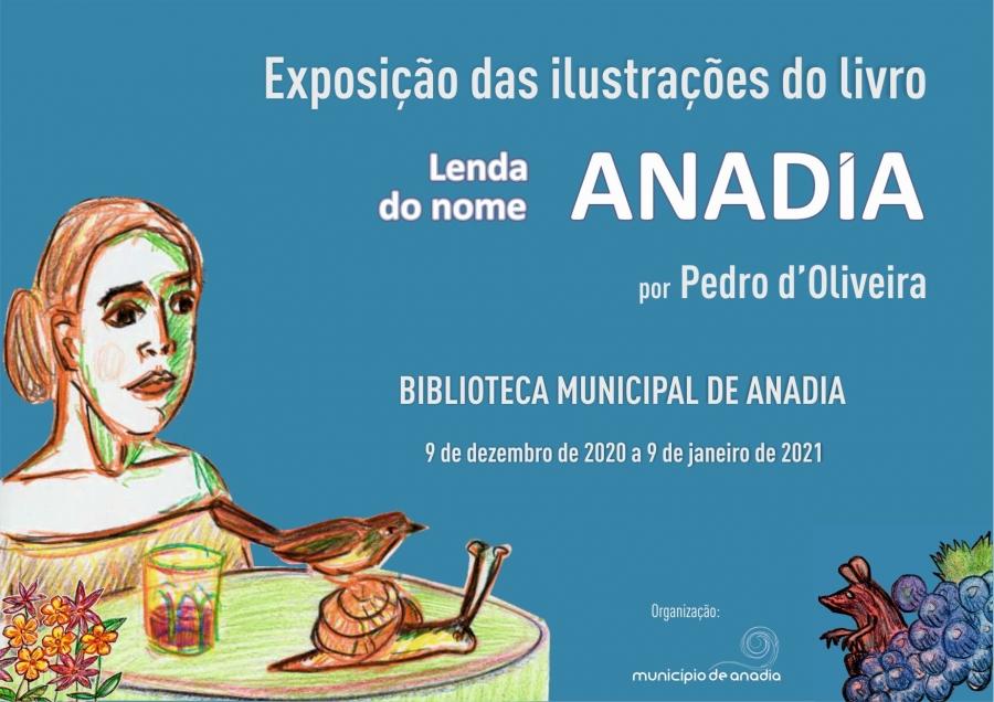 Exposição das ilustrações do livro 'Lenda do nome Anadia'