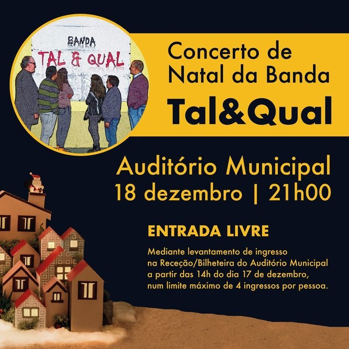 Concerto de Natal pela Banda Tal & Qual