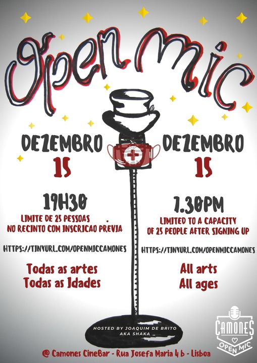 Open Mic - 57ª edição - All Arts, All Ages