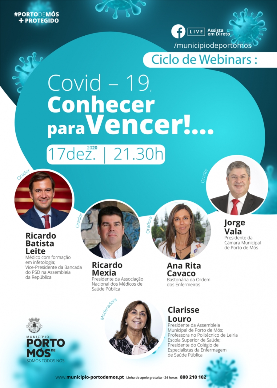 Ciclo de Webinars - Covid-19, Conhecer para Vencer