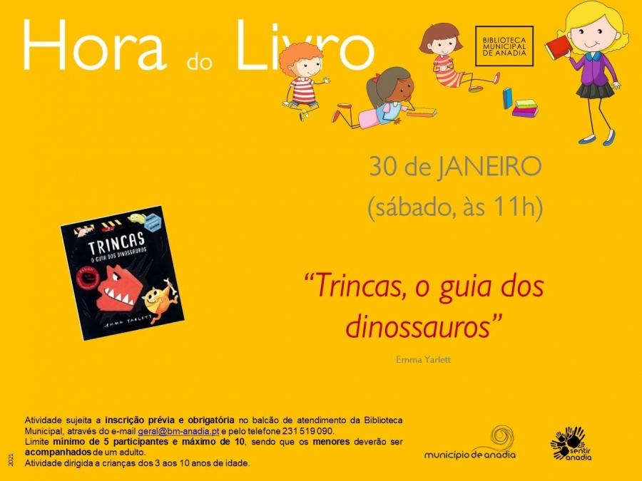 """Hora do Livro - """"Trincas, o guia dos dinossauros"""""""