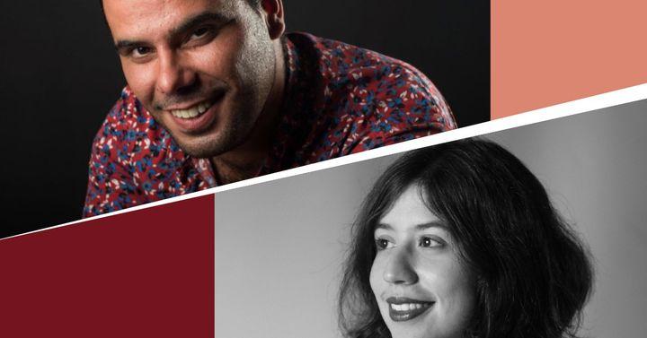 Álvaro Cortez, percussão e Isabel Romero, piano