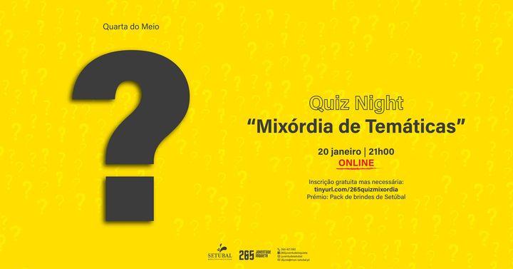 """Quiz Night – """"Mixórdia de Temáticas"""""""