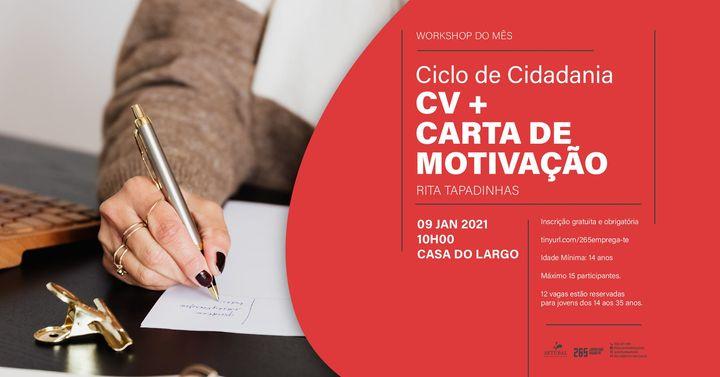 Workshop do Mês: CV + Carta de Motivação