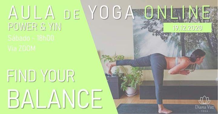 AULA DE YOGA - FIND YOUR BALANCE (POWER & YIN)