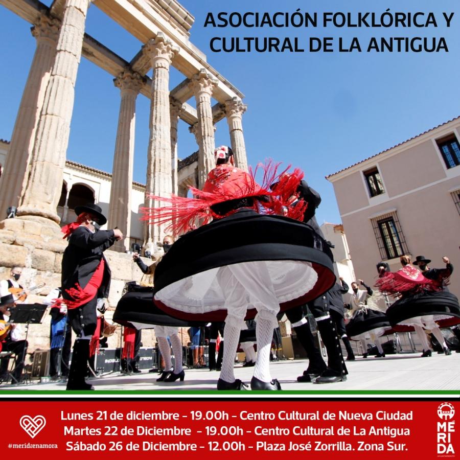 Actuación de la Asociación Cultural y Folklórica de La Antigua