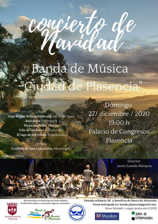 Concierto de Navidad. Banda de Música 'Ciudad de Plasencia'
