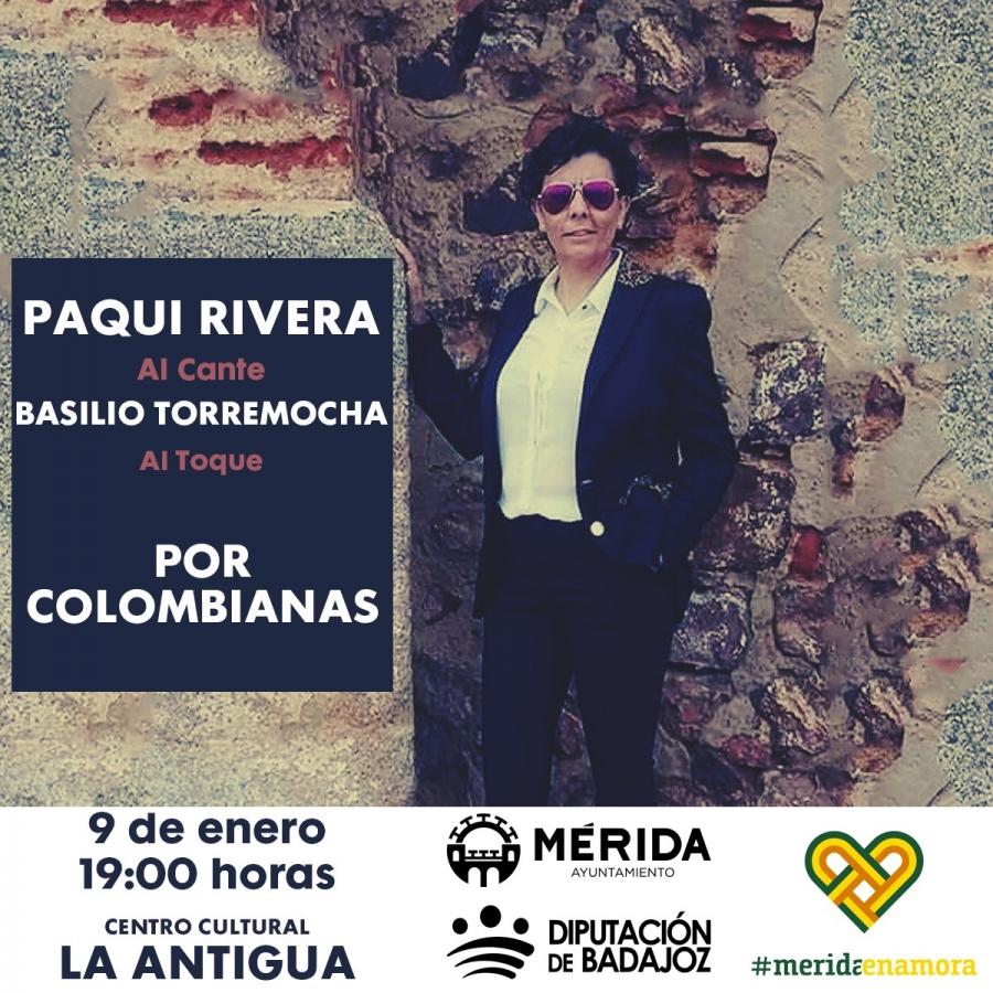 Concierto de Paqui Rivera 'Por colombianas' (APLAZADO)