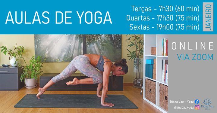 Aulas de Yoga Online - mês de janeiro
