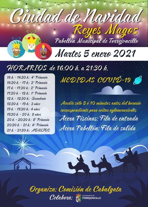 Ciudad de Navidad con los Reyes Magos en Torrejoncillo