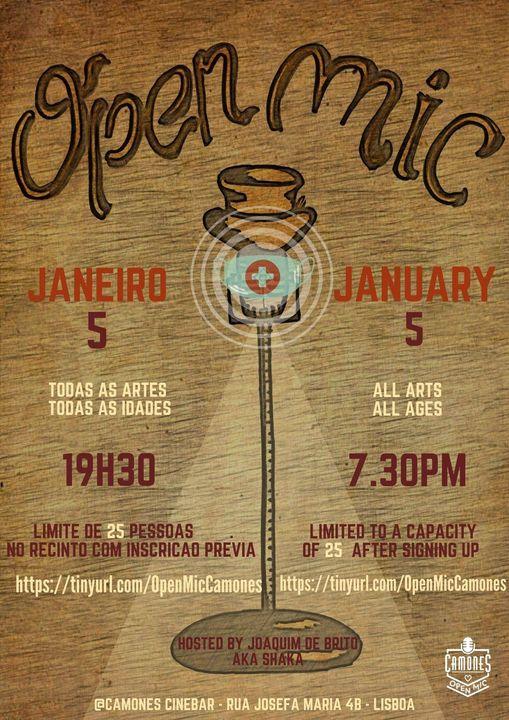 Open Mic - 60ª edição - All Arts, All Ages, New Year!
