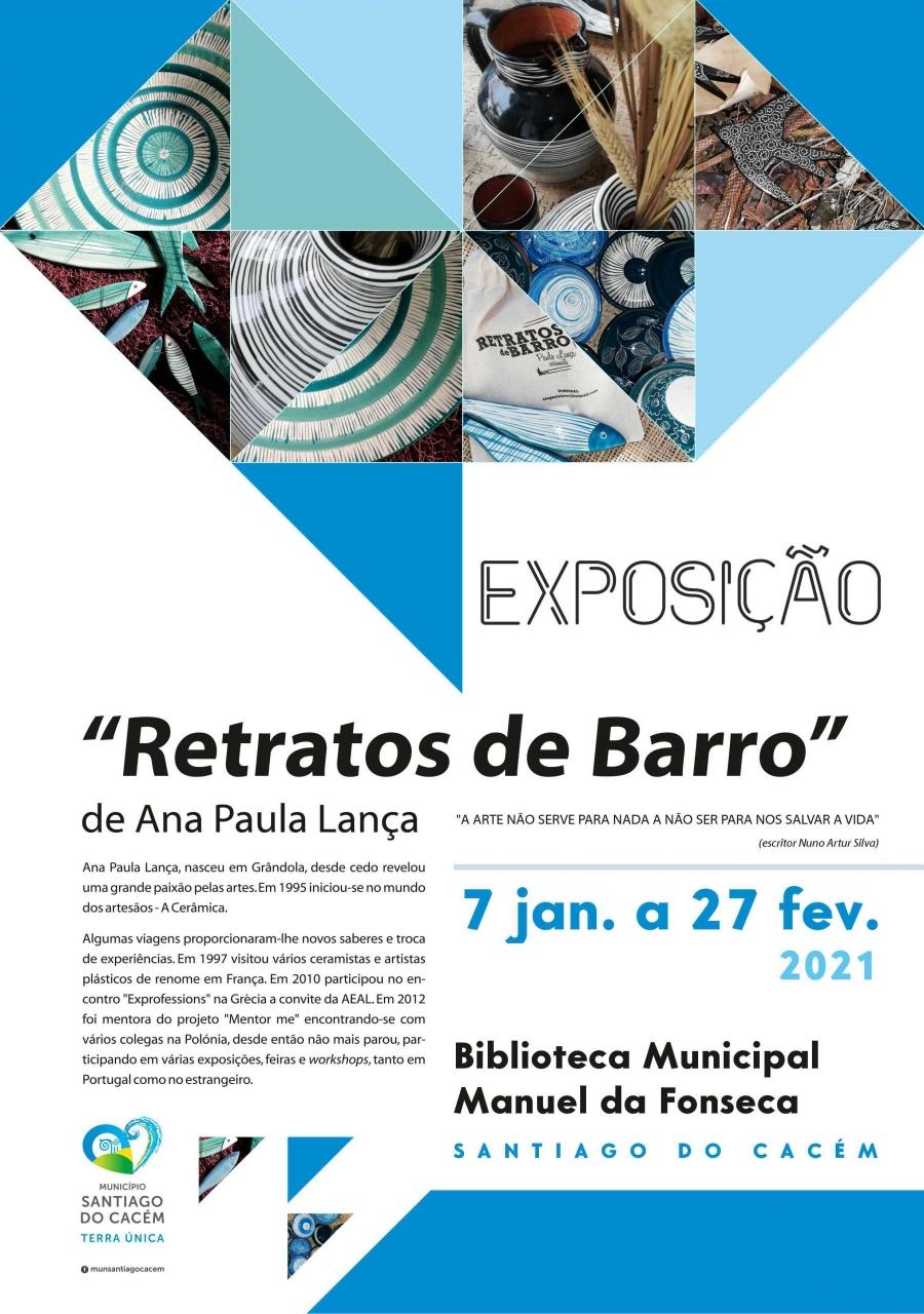 """Exposição """"Retratos de Barro"""" de Ana Paula Lança"""