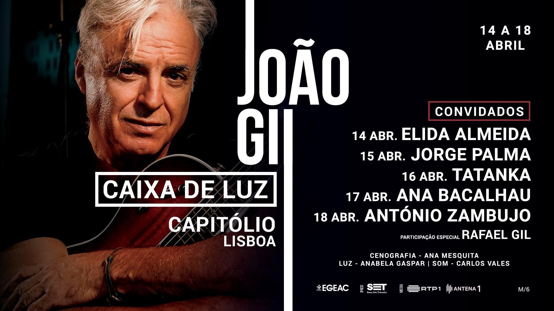 (ADIADO) João Gil apresenta Caixa de Luz