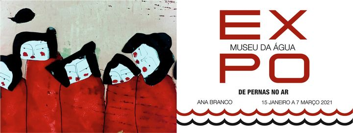 """Apresentação da exposição """"de pernas no ar"""", de Ana Branco."""