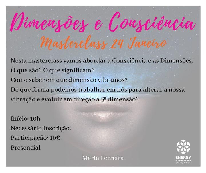 Dimensões e Consciência- Masterclass