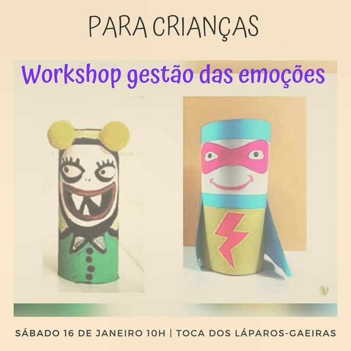 Workshop Gestão das emoções Para Crianças Entre Os 5 E Os 8 Anos