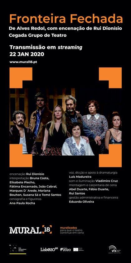 """Apresentação da peça de teatro """"Fronteira Fechada"""" em streaming"""