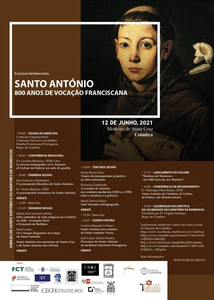 COLÓQUIO INTERNACIONAL: SANTO ANTÓNIO – 800 ANOS DE VOCAÇÃO FRANCISCANA