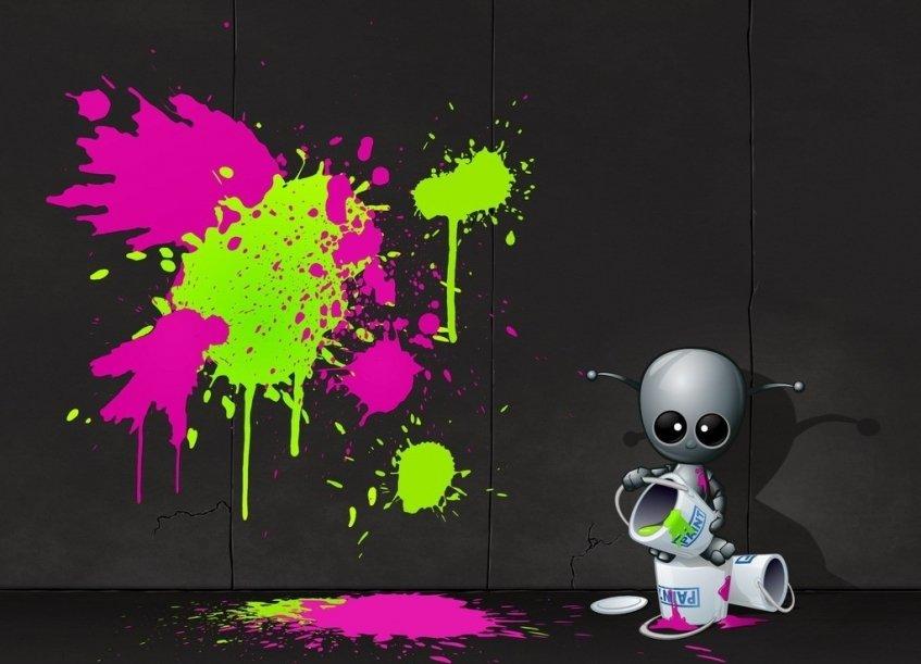Vem desenhar com o Robô-Pintor