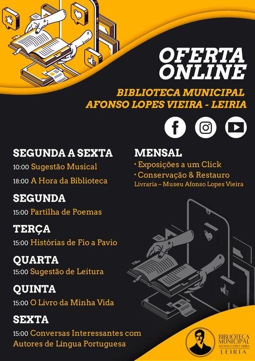 Oferta online: Biblioteca Municipal Afonso Lopes Vieira