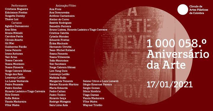 1 000 058.º Aniversário da Arte