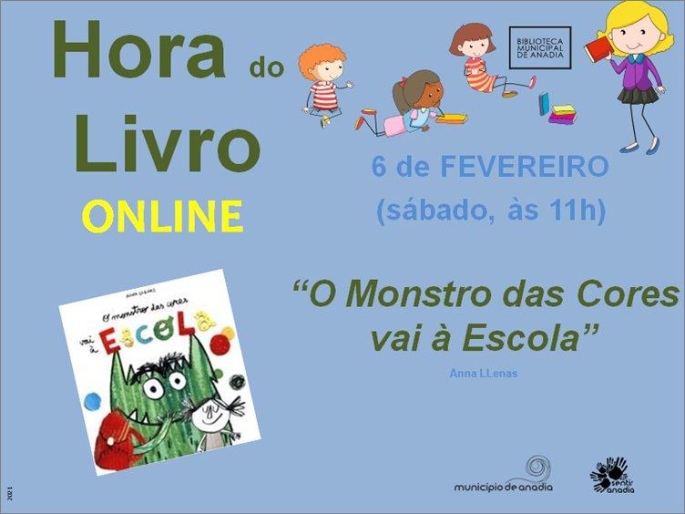 Hora do Livro 'O Monstro das cores vai à escola' - SESSÃO ONLINE
