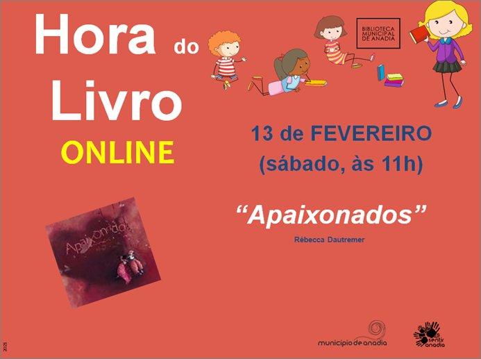 """Hora do Livro """"Apaixonados"""" - SESSÃO ONLINE"""