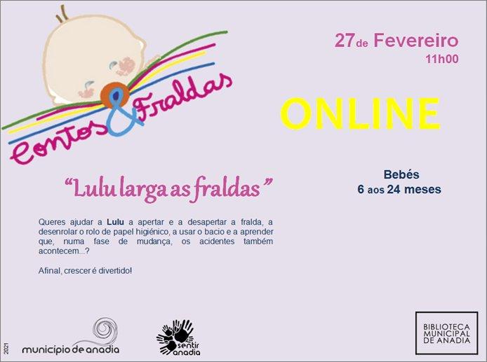 "Contos & Fraldas ""Lulu larga as fraldas!"" - Sessão online"