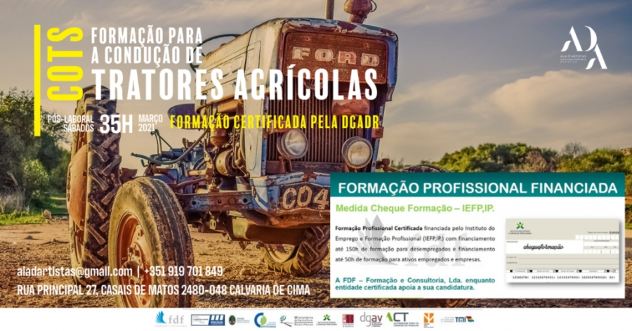 Formação para Condução de Tratores Agrícolas - Inscrições abertas