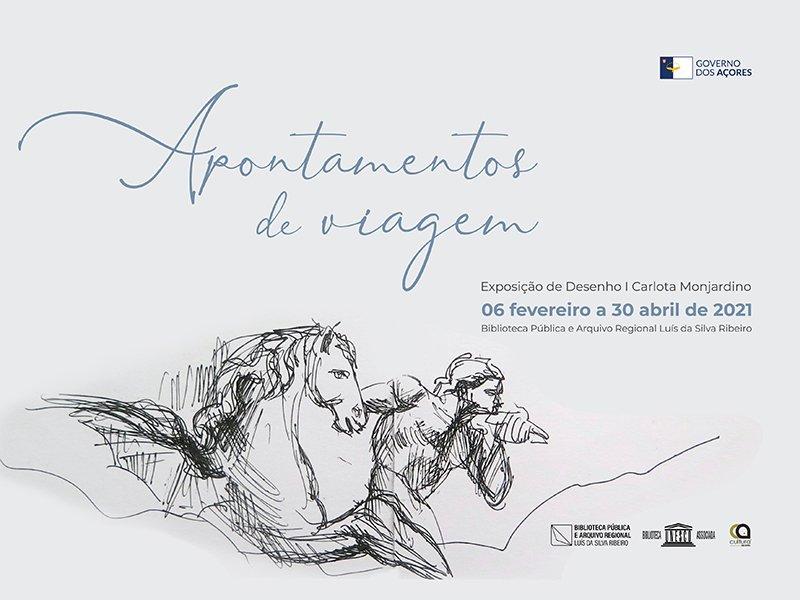 """""""Apontamentos de Viagem"""" - Exposição de desenho de Carlota Monjardino"""