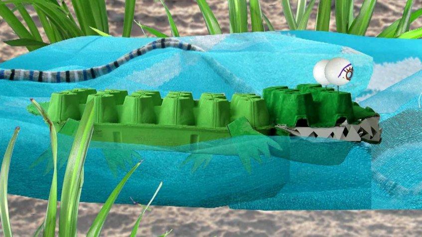 A história do crocodilo e do elefante