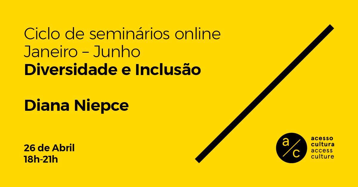 Seminário 'Diversidade e inclusão' com Diana Niepce