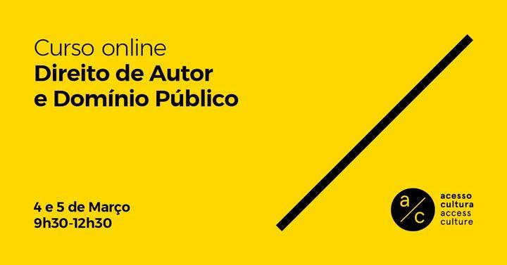 Curso 'Direito de Autor e Domínio Público'