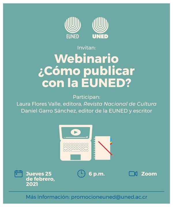 Webinario: ¿Cómo publicar con la EUNED?