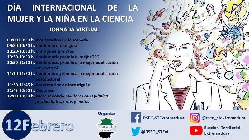 Jornada Día de la Mujer y la Niña en la Ciencia. Sección Extremadura. Real Sociedad Española de Química. 12 de febrero de 2021