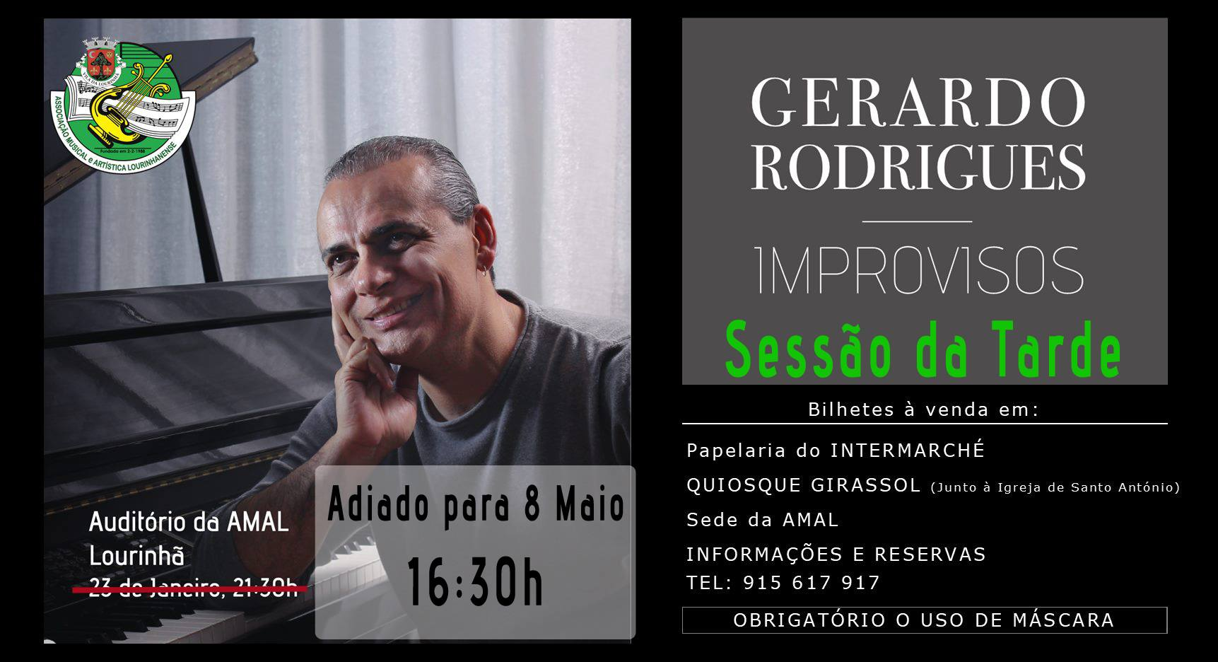 Concerto 'Improvisos' - Gerardo Rodrigues - Sessão da Tarde