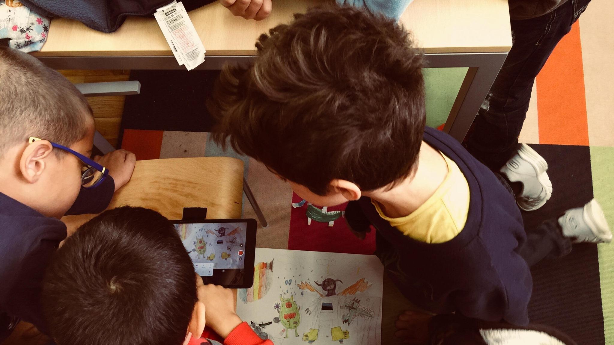 Oficina de Cinema de Animação para as crianças: Animando a Estónia