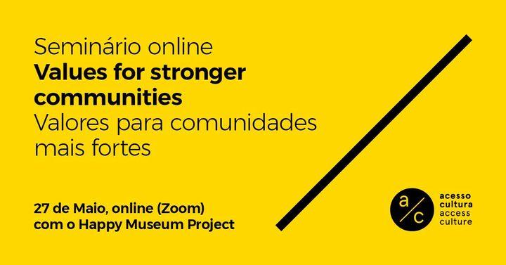 Online seminar: 'Values for stronger communities'