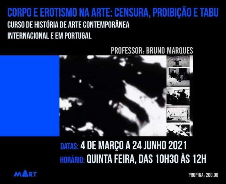 CORPO E EROTISMO NA ARTE: Censura, proibição e tabu | Curso de História de Arte Contemporânea