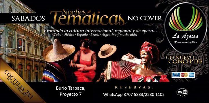 Sábados Temáticos - Caribe - Cuba - México - España - Brasil - Argentina y Mucho Más