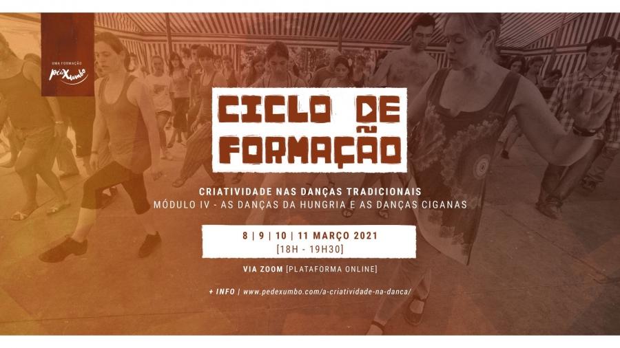 """Ciclo de Formação """"A Criatividade nas Danças Tradicionais"""" (Online)"""