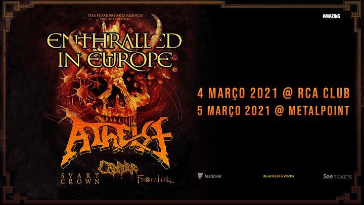 Atheist em Lisboa c/ Cadaver + Svart Crown + From Hell