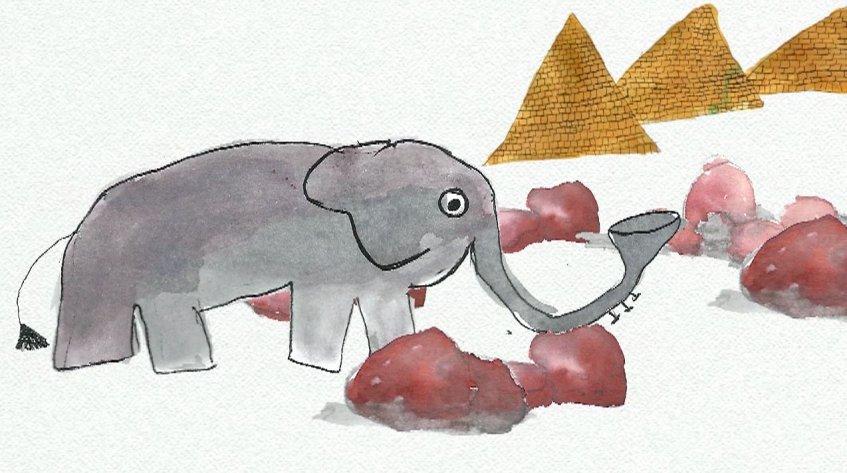 Mas que grande animação - 'O elefante sem tromba'