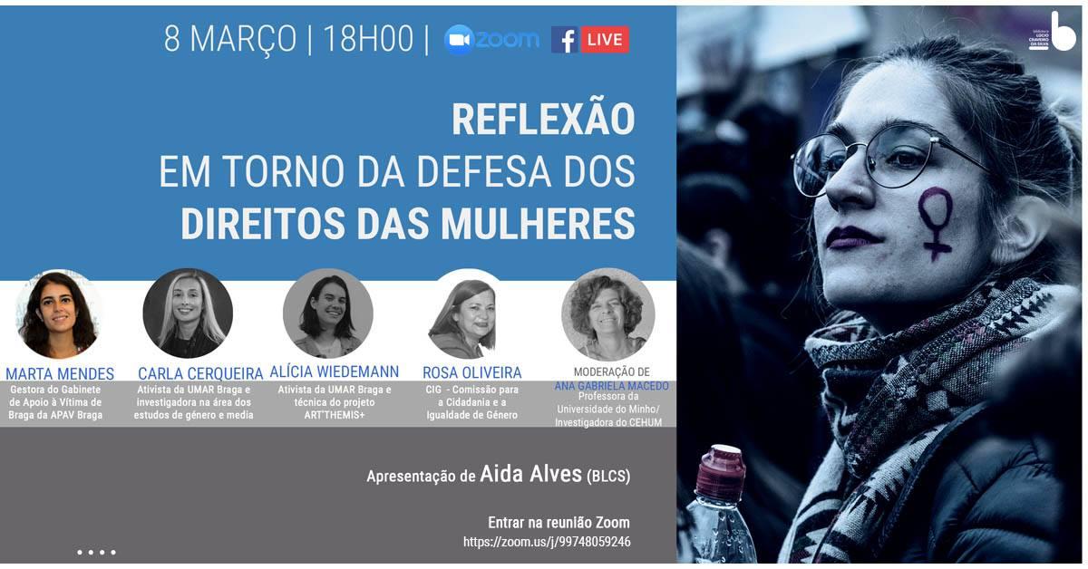 MESA REDONDA - Reflexão em torno da defesa dos direitos das mulheres