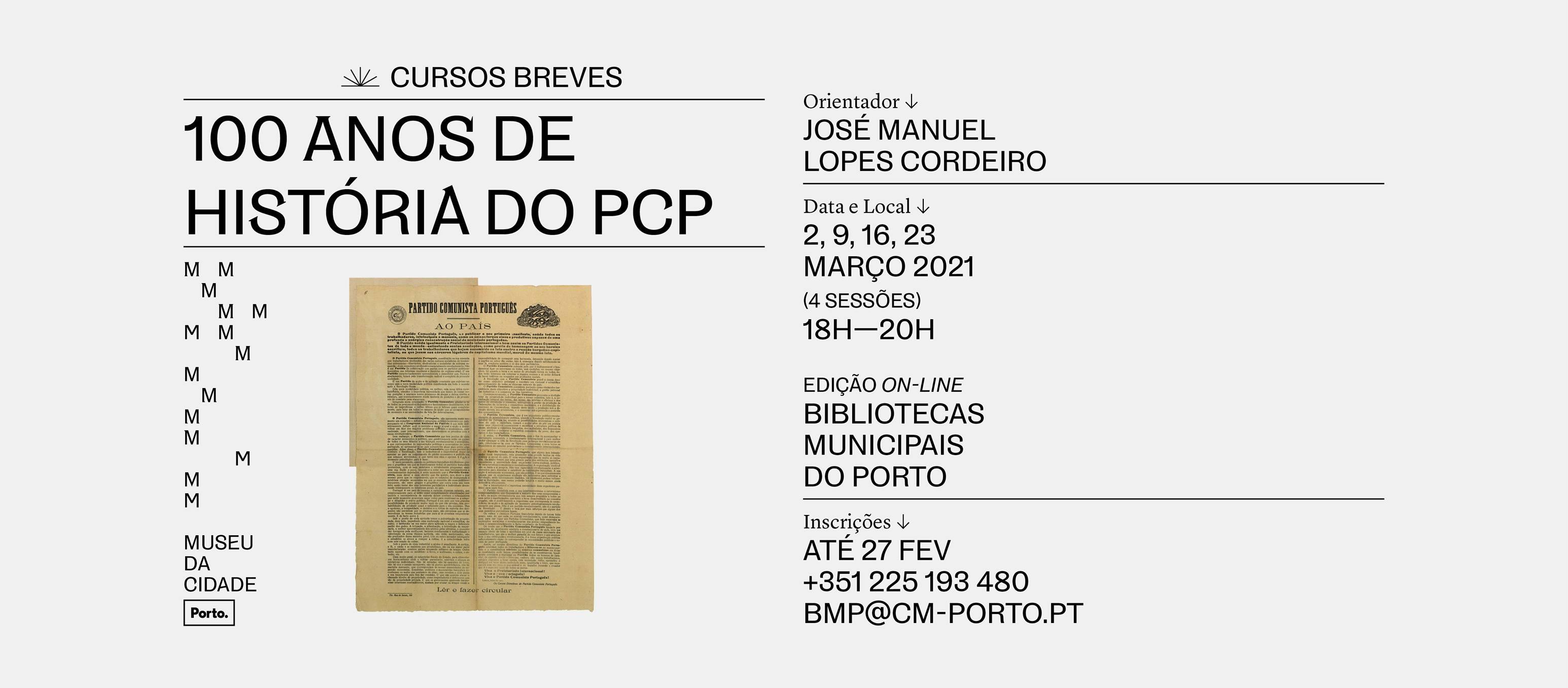 Curso Breve—100 anos de História do PCP